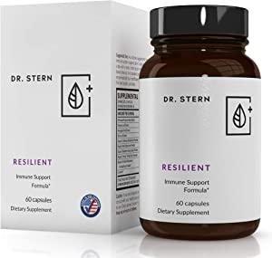 Resilient - Natural Immune System Support - Dr. Formulated to Boost Your defenses - W/Organic Mushroom Blend, Echinacea, Astragalus, Oregano & More - Vegan - Made in USA- 60 Capsules