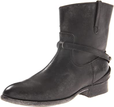 FRYE Women's Lindsay Plate Short Boot, Black Stone Antiqued, ...