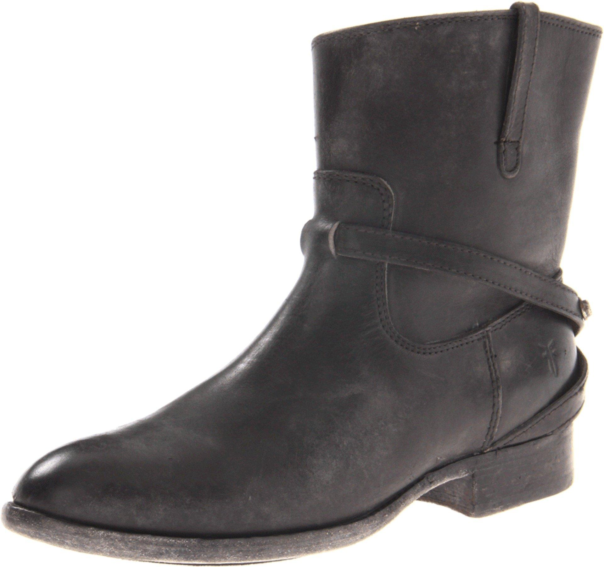 FRYE Women's Lindsay Plate Short Boot, Black Stone Antiqued, 7.5 M US