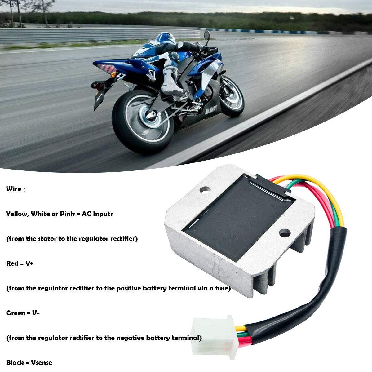 regolatore raddrizzatore Universale a 4 Fili Scooter 12 V AC regolatore di Tensione per Moto Moto Quad MASO