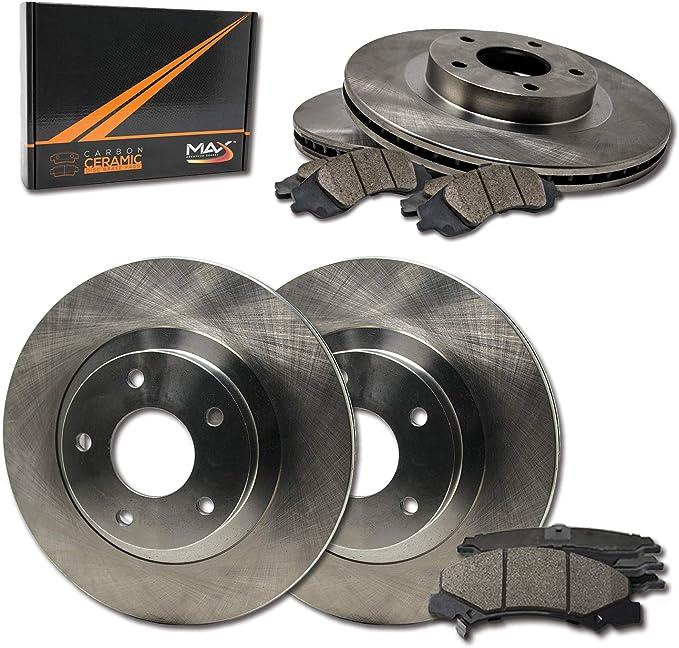 KT037781 Fits: 2014 14 2015 15 Fits Nissan Frontier V6 Max Brakes Front Elite Brake Kit E-Coated Slotted Drilled Rotors + Ceramic Pads