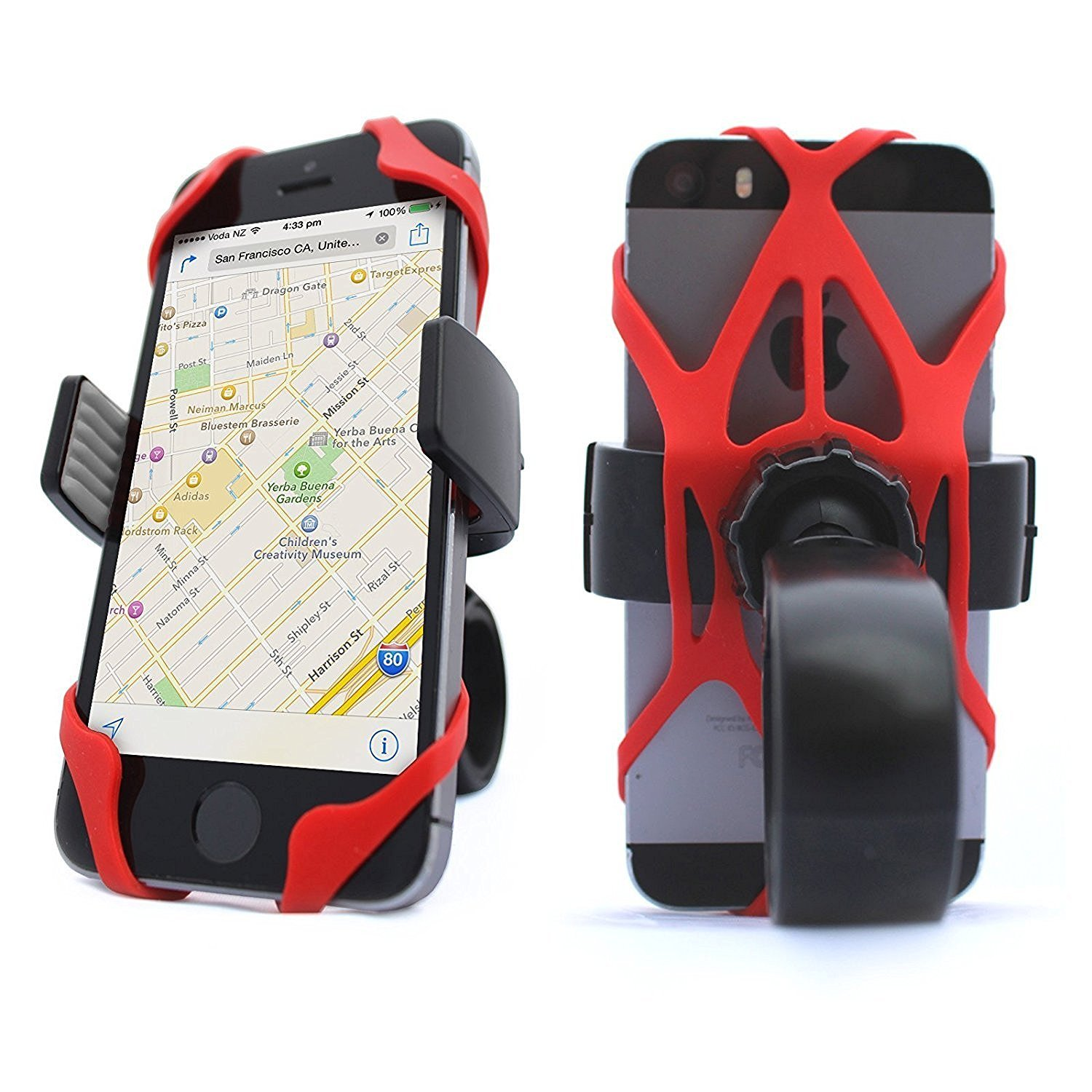 Cell Phone Bike Mount Holder Motorcycle Bicycle Handlebar Iphone Android Mobile
