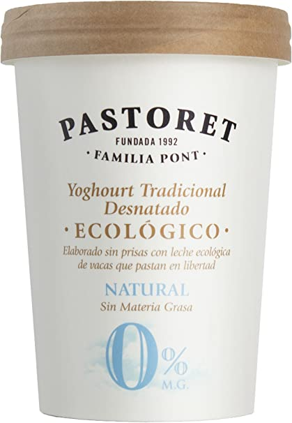 Pastoret Yogur Ecológico Natural Desnatado, 500 g