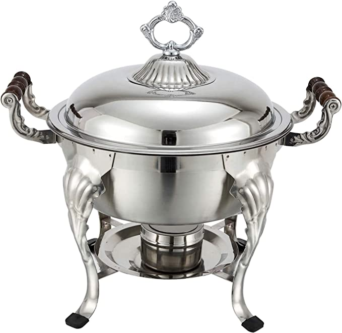 Amazon Com Crown 5 Quart Round Chafer Chafing Dishes Kitchen Dining