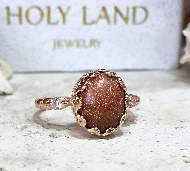 Beautiful Sunstone Ring Size 5