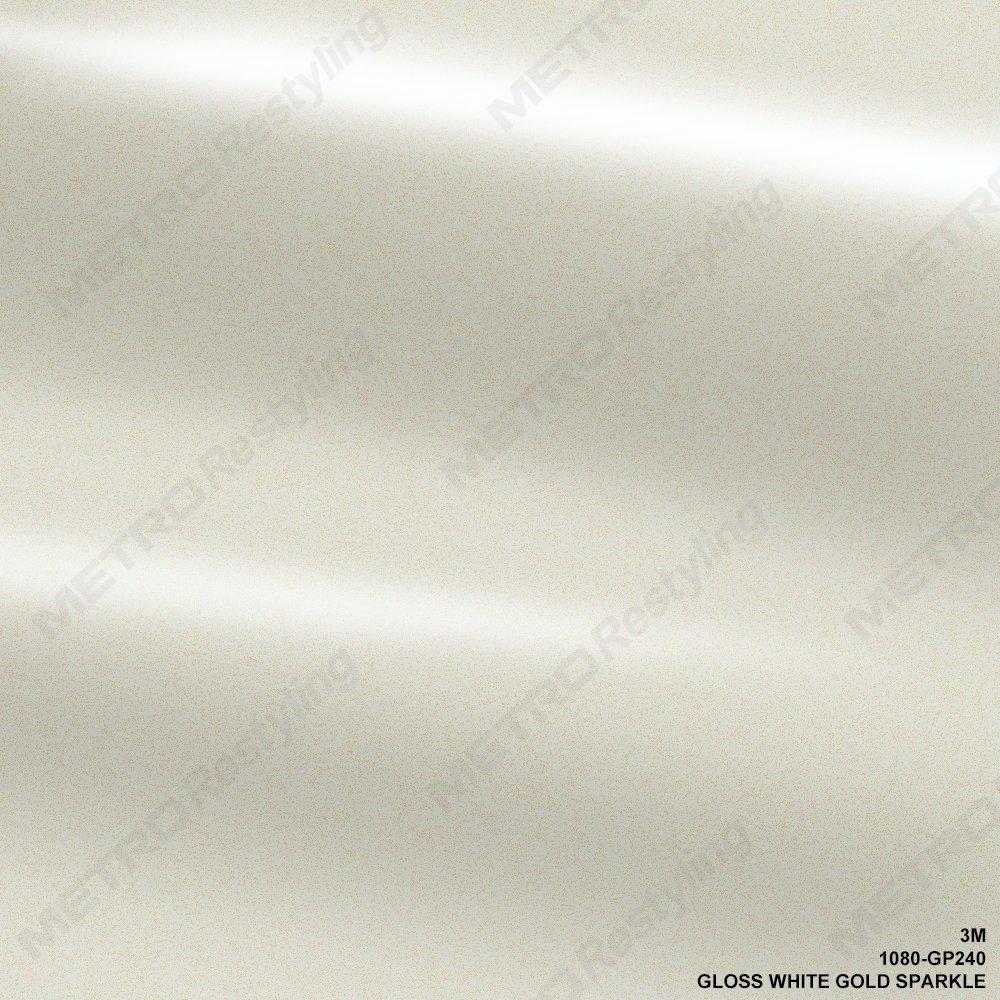 3M 2080 GP240 Gloss White Gold Sparkle Wrap Vinyl Film