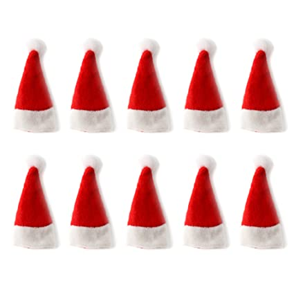 fc0fd7ad3f501 Amazon.com  OLSUS 60Pcs Christmas Lollipop Candy Hat Mini Santa ...