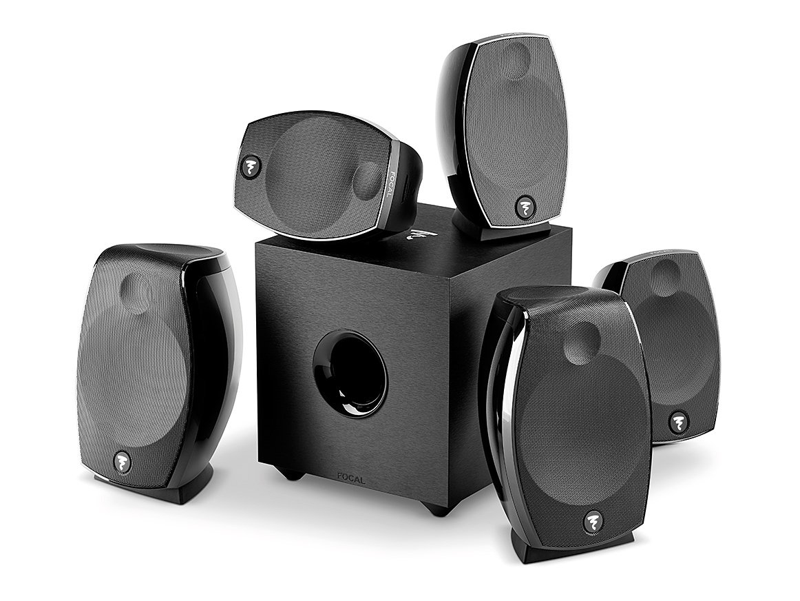 Focal SIB EVO ATMOS 5.1.2 Two-Way Bass-reflex Satellite Home Cinema Loudspeaker System Compatible With DOLBY ATMOS by Focal