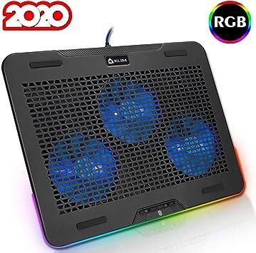 KLIM™ Aurora - Base de refrigeración para portátiles RGB: Amazon ...