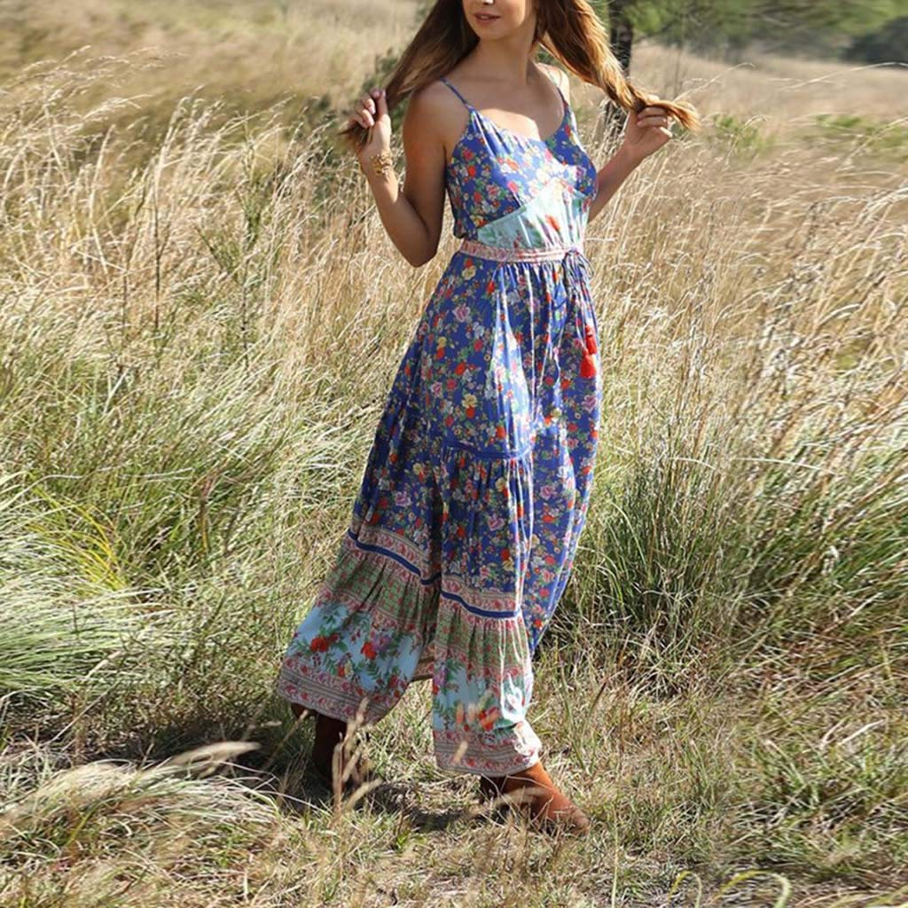 Posional Vestido Largo Mujer Boho Vestido De Noche Maxi Playa Sundress Mujers Bohemia Tunic Swing Maxi Vestidos De Fiesta