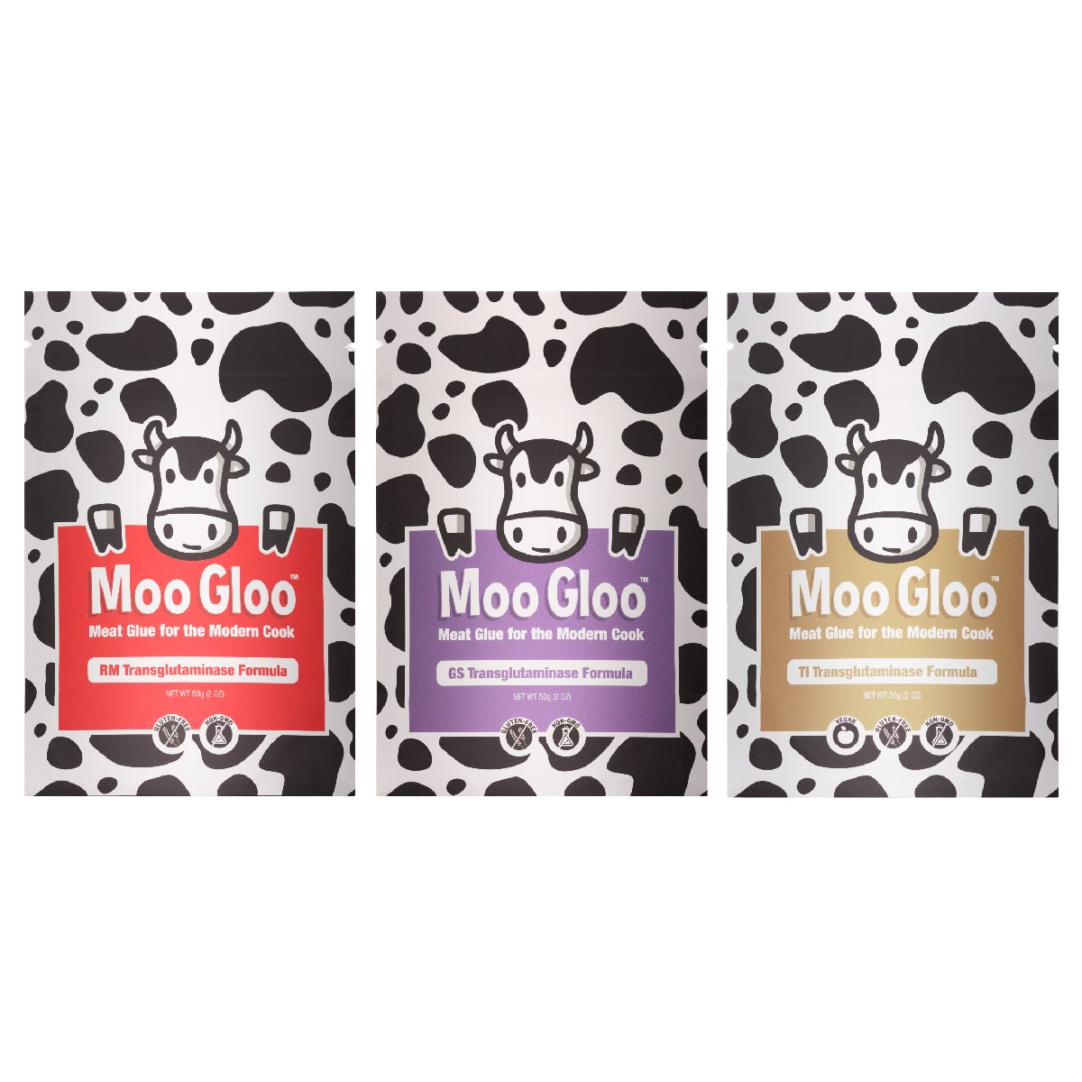 Moo Gloo Value Pack - Transglutaminase - Meat Glue - 150g/6oz. (Bundle with 3 items) by Moo Gloo (Image #1)