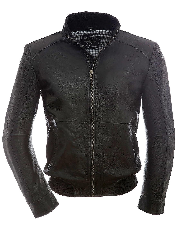 Henry's Sporty Men's Leather Jacket / LEO Black