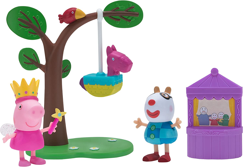 Amazon Com Peppa Pig Birthday Party Playtime Set Toys Games