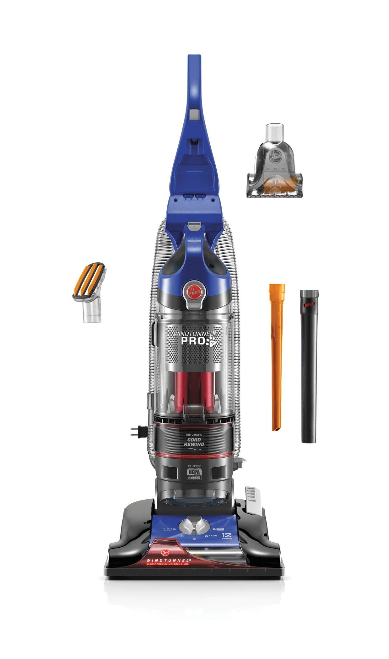 Hoover Vacuum Cleaner WindTunnel 3 Pro Pet Bagless Corded Upright Vacuum UH70935 by Hoover