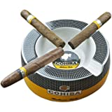 """GUEVARA Cigar Ashtray Big Ashtrays for 8"""" Round Cigarettes Large Rest Outdoor Cigars Ashtray for Patio/Outside/Indoor…"""