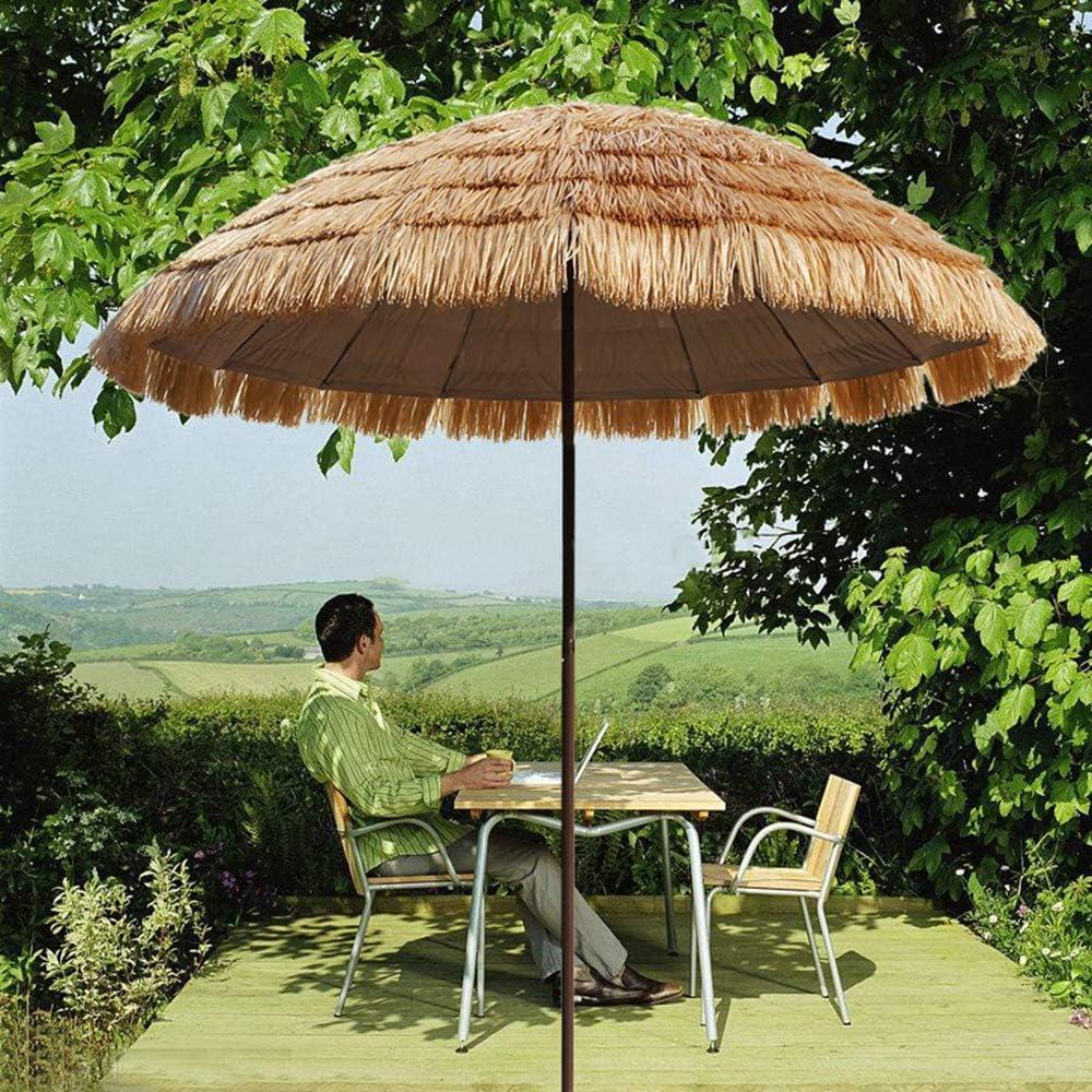 UWY Sombrilla de Playa, sombrilla Redonda con Forma de Paja, sombrilla de Paja, sombrilla de Mesa para terraza de jardín, sombrilla para Exteriores de 250 cm