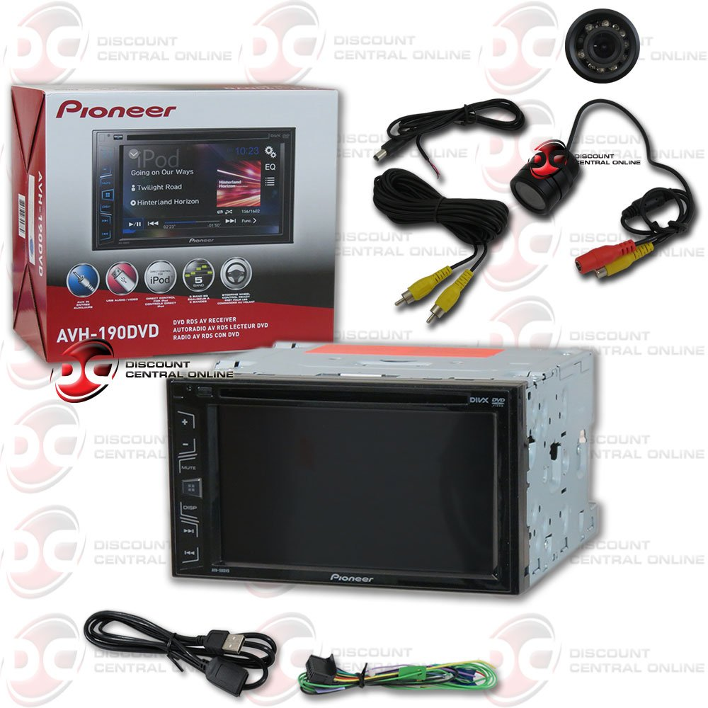 2016 Pioneer Double DIN 2DIN 6.1'' Touchscreen Car DVD CD Player Plus DCO Waterproof Backup Camera with Nightvision (Optional camera)