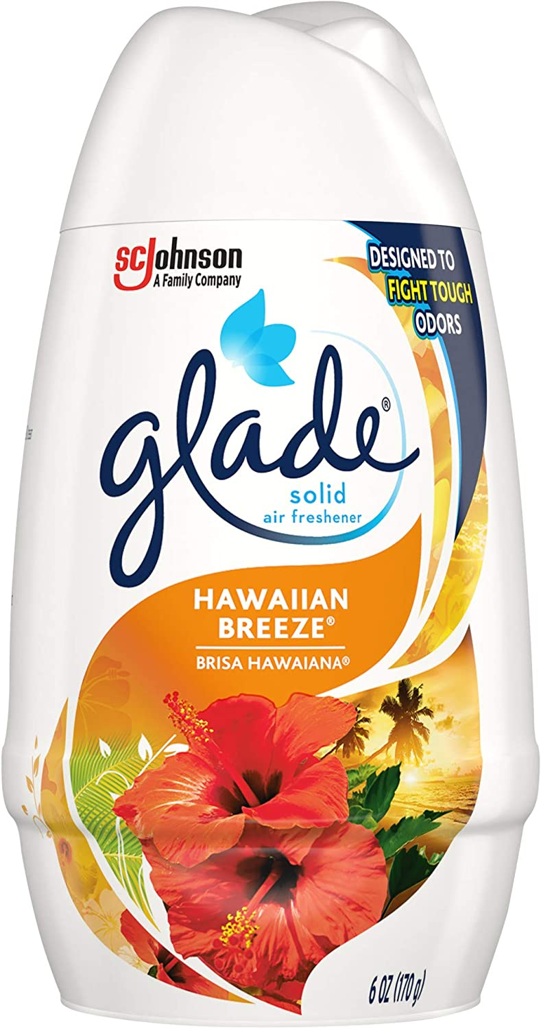 Glade Solid Air Freshener, Deodorizer for Home and Bathroom, Hawaiian Breeze, 6 Oz, Pack of 1