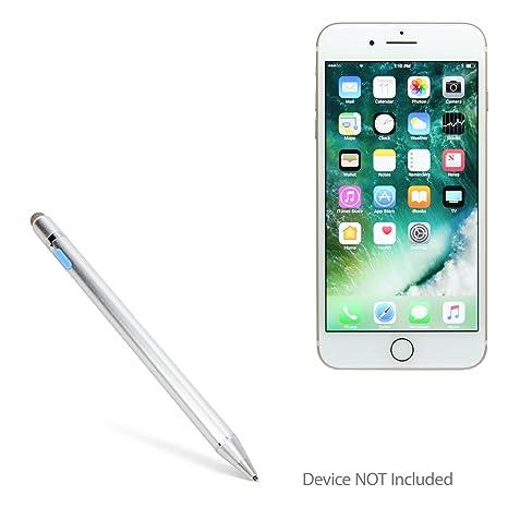 premium selection 925d2 07ab9 Apple iPhone 7 Plus Stylus Pen, BoxWave [AccuPoint Active Stylus]  Electronic Stylus with Ultra Fine Tip for Apple iPhone 7 Plus - Metallic  Silver