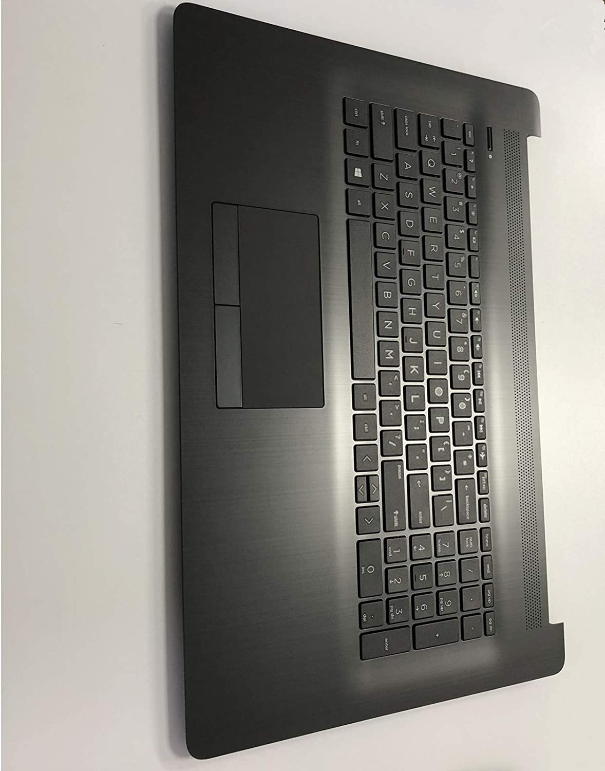 Replacement for HP Pavilion17BY 17-by 17CA 17-CA 17Q-CS Laptop Upper Case Palmrest Touchpad with Keyboard Assembly Part L22750-001 6070B1308103 Grey