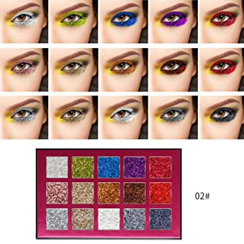 5455a7207c6c Amazon.com : 15 Colors Eyeshadow Palette for Women, Iuhan Cosmetic ...