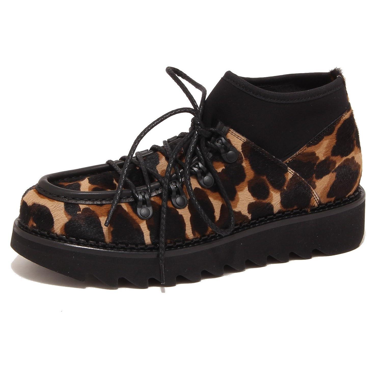 0841P scarpa allacciata ALBERTO GUARDIANI SHARKBOOT scarpa donna shoe woman 37.5 EU|marrone/nero