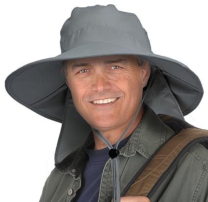 Sun Blocker Outdoor Sun Protection Fishing Cap with Neck Flap Wide Brim Hat  for Men Women Baseball e35faeabc8dc