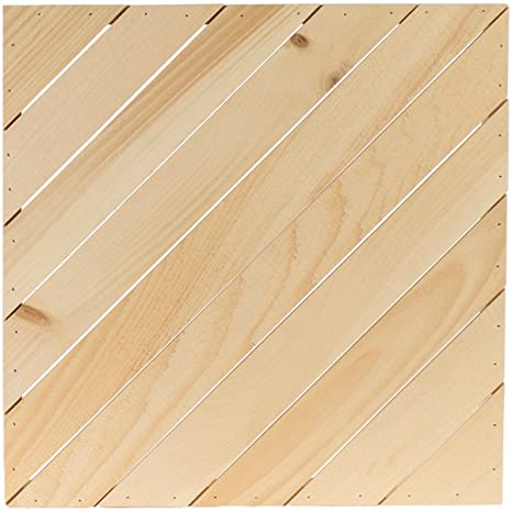 Diagonal Square Rustic Pallet-Large - 19 5