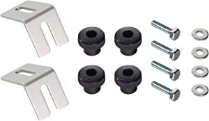 "POWERTEC 71334 Multi Track Brackets and Clamping Knob Hardware Kit with Hex Bolt Fasteners 1/4""-20 x1"" 