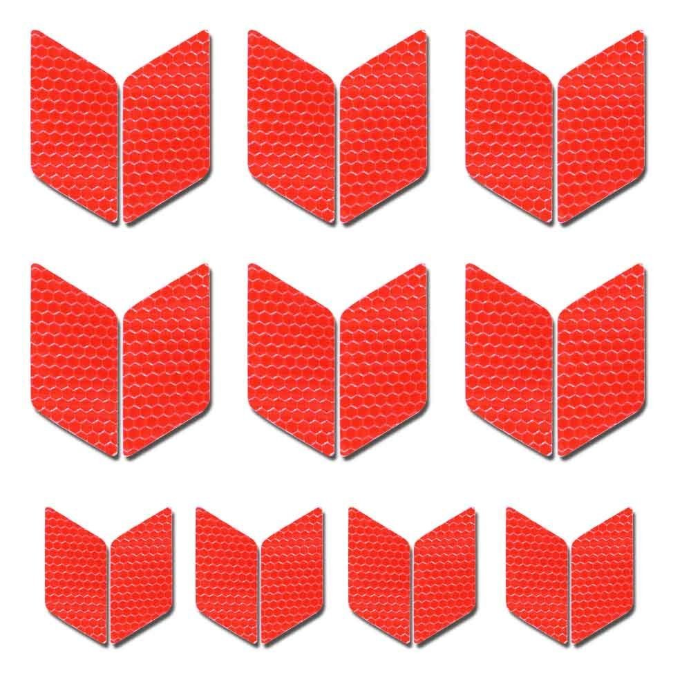 Diamond shape Reflective Tape Waterproof Self-Adhesive For Trucks Trailers Car Park Traffic Warning Caution Conspicuity Tape Tape-Reflective Tape 10 packs Red autotoper