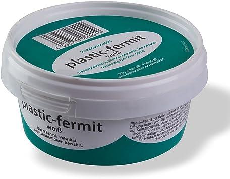 Fermit - Bote de pasta plástica para juntas (500 g, resistente a más de 100 °C), color blanco: Amazon.es: Bricolaje y herramientas