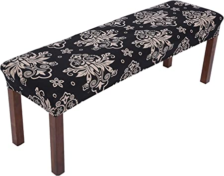 Stretch Dining Bench Covers Slipcovers w// Strap Washable Seat Protector