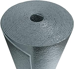 US Energy Products AD5mm Reflective Foam Core Insulation, Cold and Heat Shield, Radiant Barrier, Thermal Insulation 48''X25ft 100sqft R8