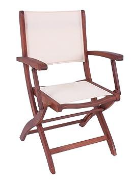 Chaise Pliante Avec Accoudoirs Fauteuil De Jardin En Bois D