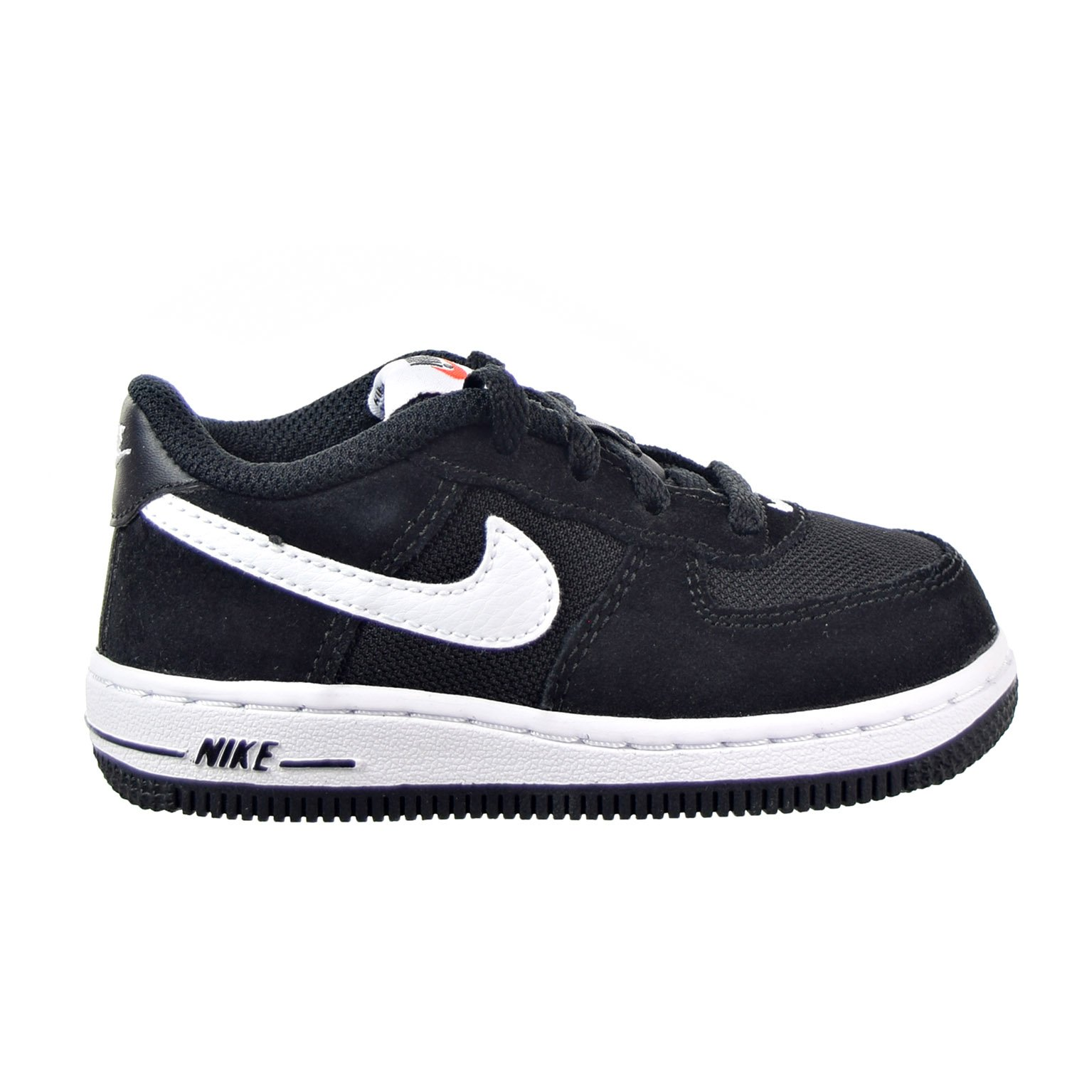 NIKE Force 1 TD Toddlers Shoes Black//White 596730-005