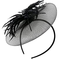 KESYOO Fascinators Hat Elegant Flower Feather Net Mesh Derby Tea Party Hats Headwear Elegant Cocktail Wedding Headbands…