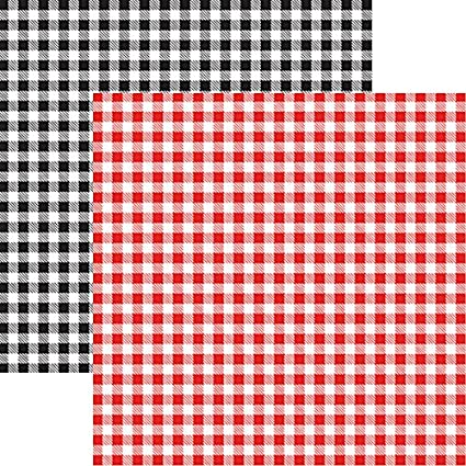 Amazon Com Gingham 5pcs 12x12 Scrapbook Papers By Reminisce