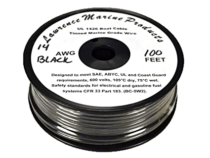Fabulous Amazon Com Lawrence Marine 14 Awg Tinned Marine Primary Wire Made Wiring 101 Capemaxxcnl