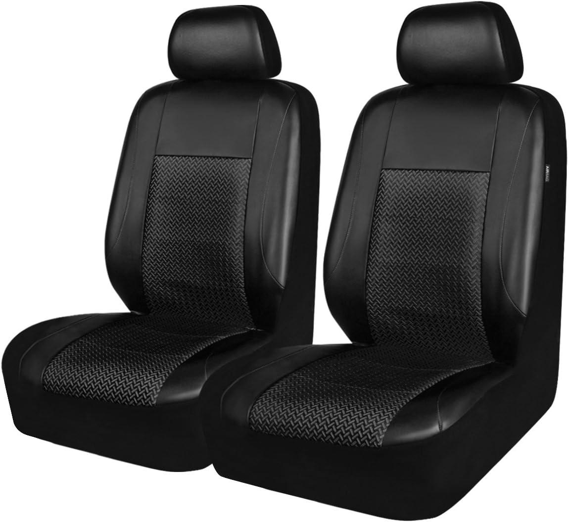 CAR PASS caballo kingdm Universal asiento de coche asiento de fundas protectores de piel sintética y malla airbag Compatible