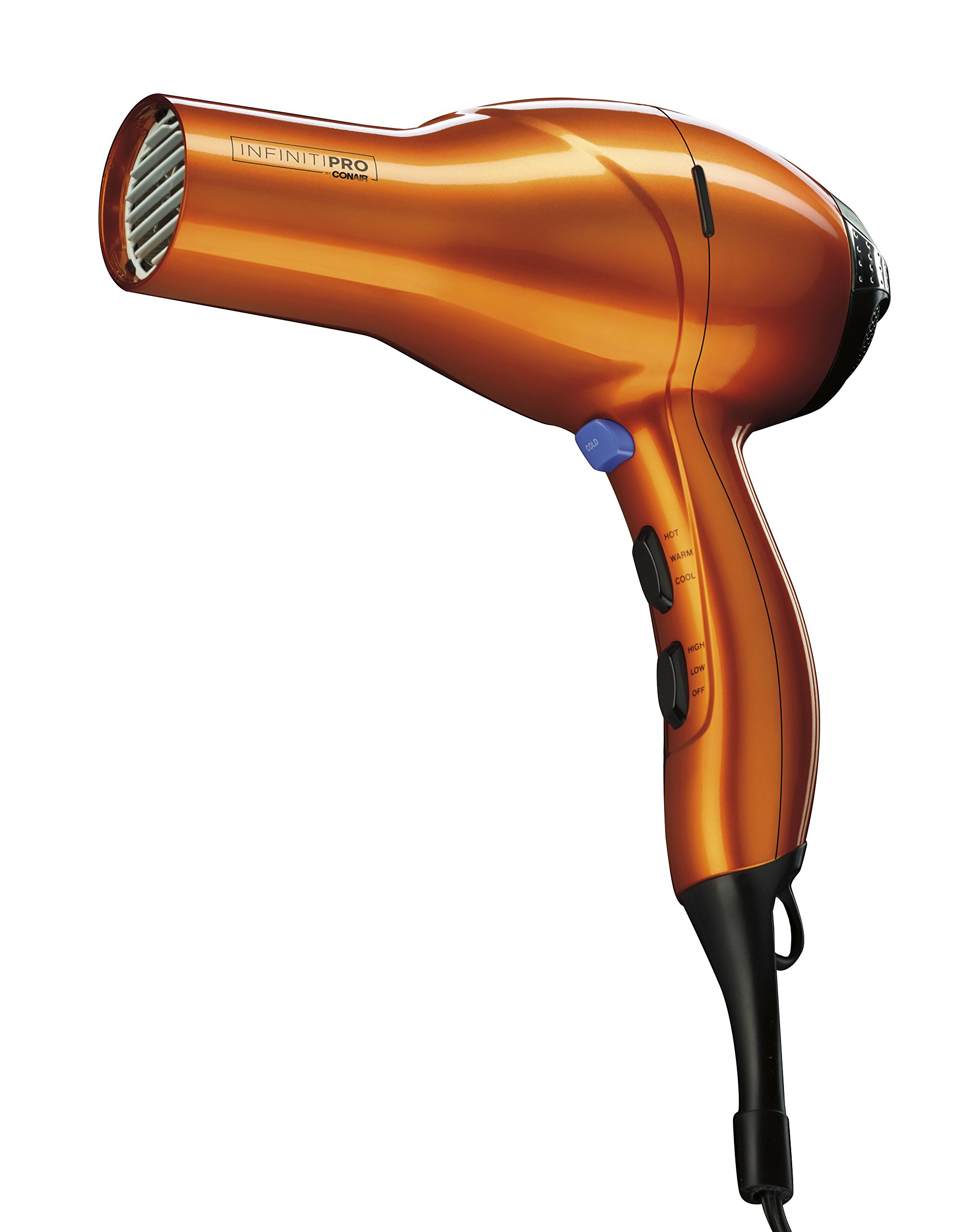 infinitipro by conair 1875 - 71fvDYhgGoL - INFINITIPRO BY CONAIR 1875 Watt Salon Performance AC Motor Styling Tool/Hair Dryer; Orange