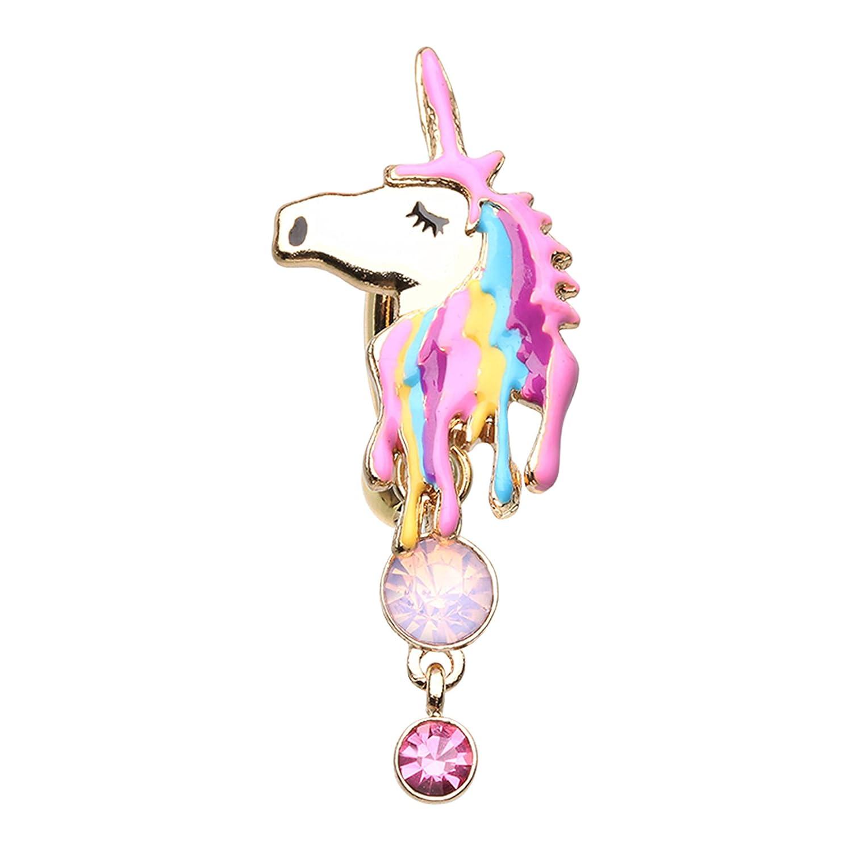 Amazon Com Little Aiden Golden Magical Unicorn Navel Belly Button