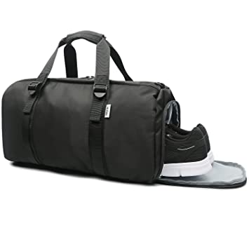 f391a72cb9 Sports Gym Bag with Shoe Compartment for Women   Men - Travel Duffel Bag  for Outdoor