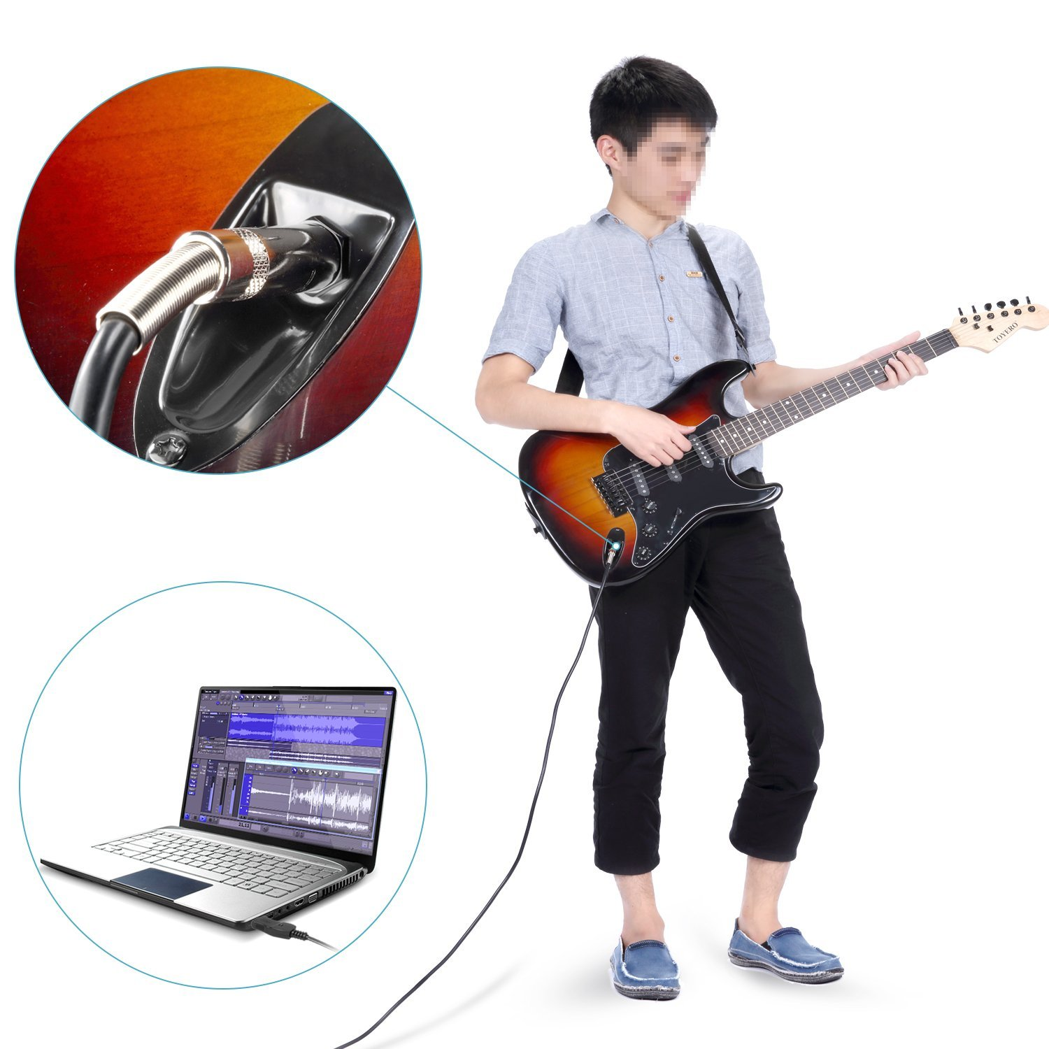 neewer guitar bass to usb link cable adapter for pc