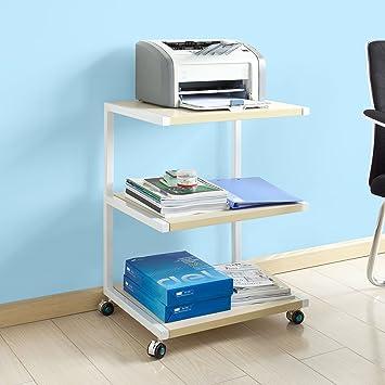 Impresora-Mesa de Rodadura SoBuy Estante con 3 Compartimentos ...