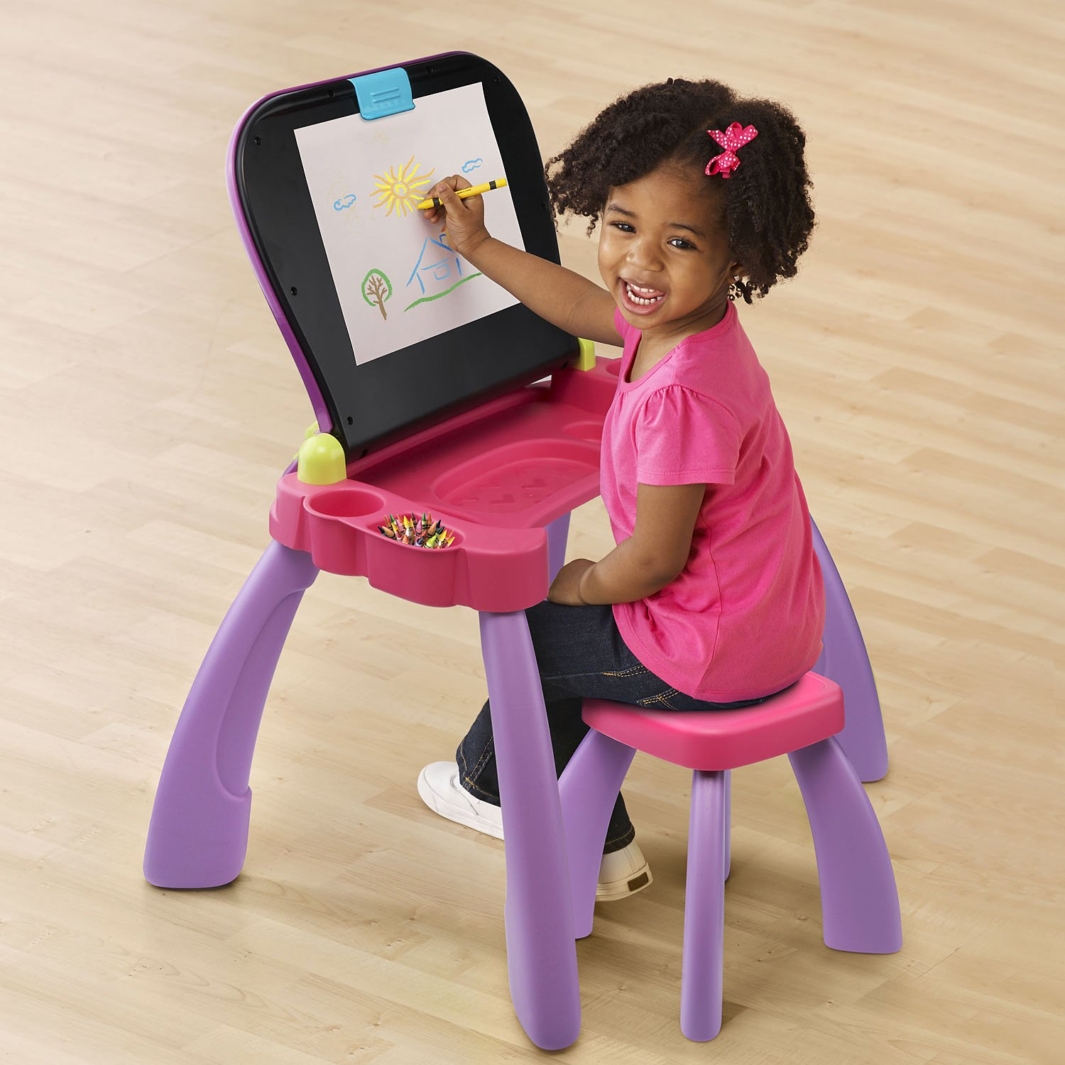VTech Touch and Learn Activity Desk, Purple by VTech (Image #4)