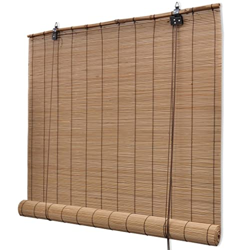 Vidaxl Brown Bamboo Roller Blinds 80 X 160 Cm Amazon Co