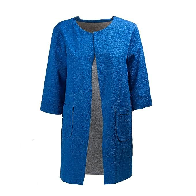 timeless design 3abc0 ac912 Giacca Giacca Giacca Blu Blu Blu Donna Elettrico Donna Blu ...