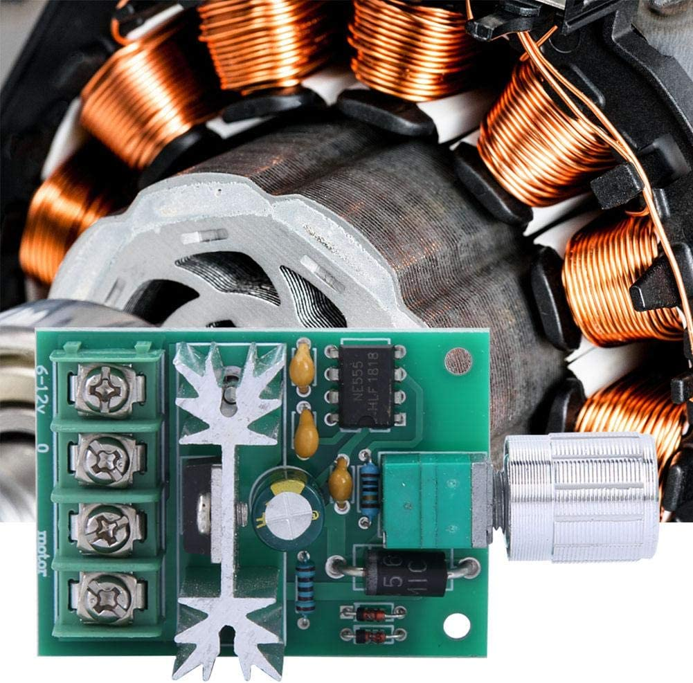 Motordrehzahlregler DC 6-12 V 6 A Motor Regler Drehzahlregler PWM Controller Switch 51 /× 37 mm