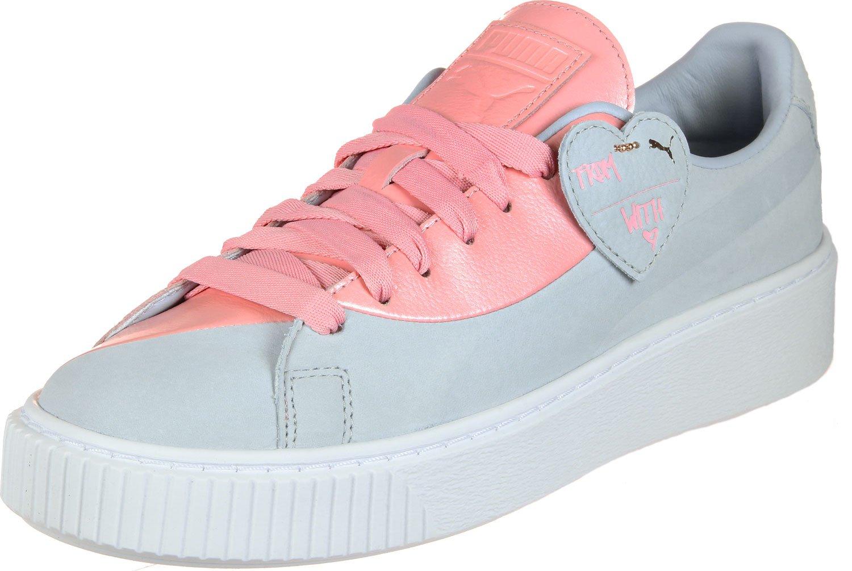 Puma Damen Sneakers Basket Platform Valentine Grau (13) 38 oIZZbiG
