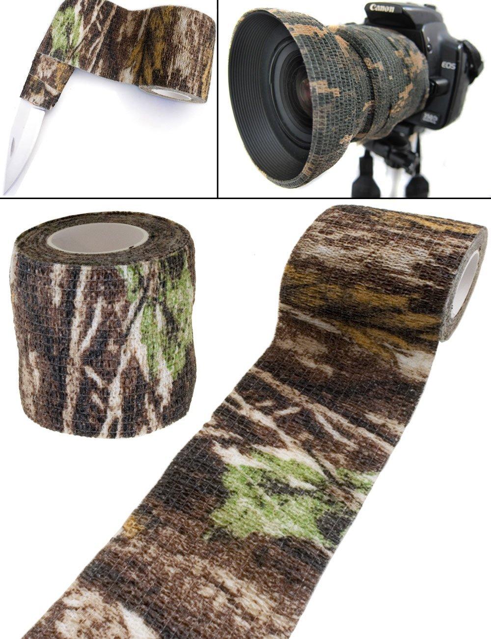 Outdoor Saxx - Camouflage Tarn-Tape Real Forest | Gewebe-Band Wasserfest Mehrfach verwendbar | Kamera, Ausrüstung, Jäger, Angler, Fotografen | 4,5m Ausrüstung Jäger